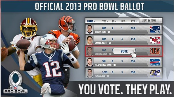 NFL 2012-2013 Pro Bowl Ballot - The Boys Are Back blog