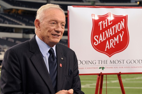 Salvation Army Red Kettle Campaign at Dallas Cowboys Thanksgiving Day - The Boys Are Back blog