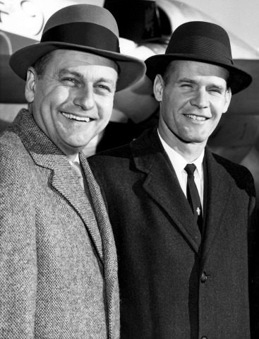 The arrival of Tex Schramm (left) and Tom Landry in 1960 was not immediately followed by much more than losses in Dallas. But the Cowboys stuck with their leadership - The Boys Are Back blog