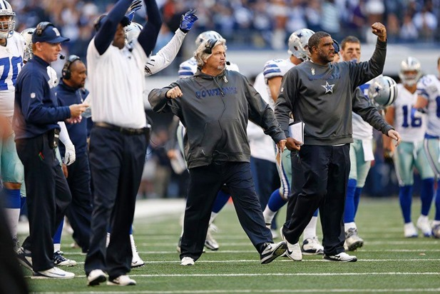 Dallas Cowboys coach Jason Garrett and Rob Ryan on the sidelines vs Cleveland Browns - The Boys Are Back blog