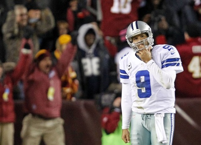 Dallas Cowboys quarterback Tony Romo (9) walks off the field after throwing an interception - The Boys Are Back blog