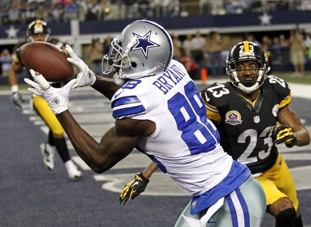 Dallas Cowboys wide receiver Dez Bryant (88) catches a touchdown pass in front of Pittsburgh Steelers - The Boys Are Back blog