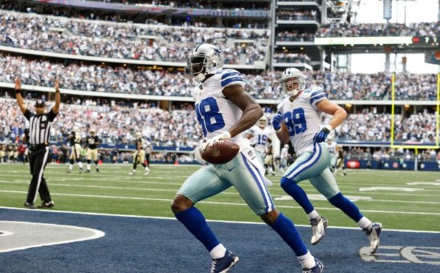 Dallas Cowboys wide receiver Dez Bryant (88) runs in a touchdown as teammate John Phillips (89) looks on - The Boys Are Back blog