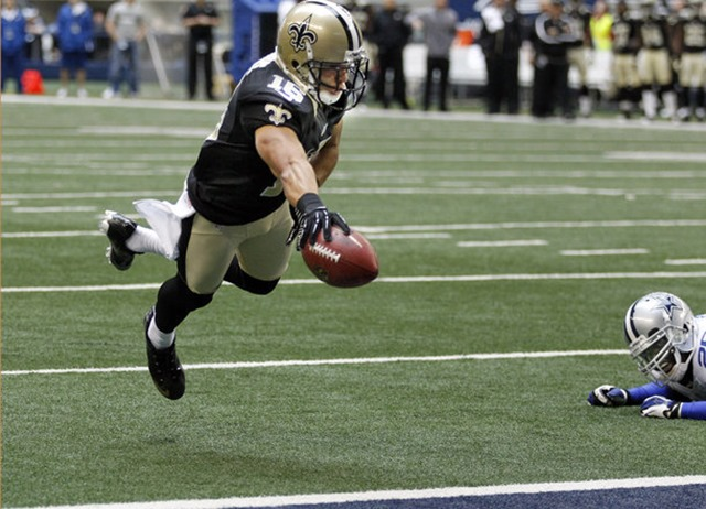New Orleans Saints wide receiver Lance Moore (16) dives into the end zone for a touchdown - The Boys Are Back blog