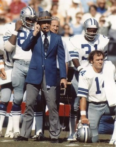 Tom Landry with the 1980's Dallas Cowboys - The Boys Are Back blog