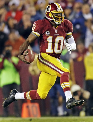 With a sore knee, Redskins quarterback Robert Griffin III only ran twice in last week's win over the Eagles - The Boys Are Back blog