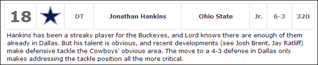 2013 DRAFT TALK - Jonathan Hankins - The Boys Are Back blog