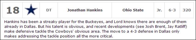 2013 DRAFT TALK - Jonathan Hankins - The Boys Are Back blog