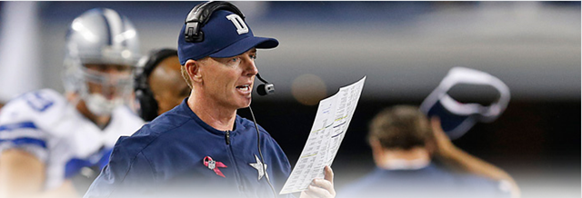 Dallas Cowboys coach Jason Garrett calls plays from the sideline - The Boys Are Back blog