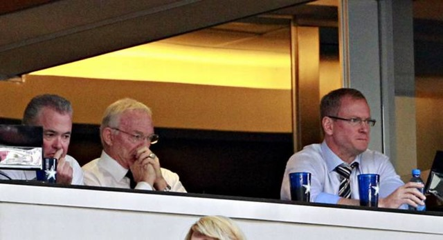 Dallas Cowboys owner Jerry Jones (center) is flanked by sons Stephen Jones (left) and Jerry Jones Jr. - The Boys Are Back blog
