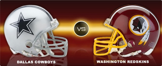 Image result for Dallas Cowboys vs. Washington Redskins