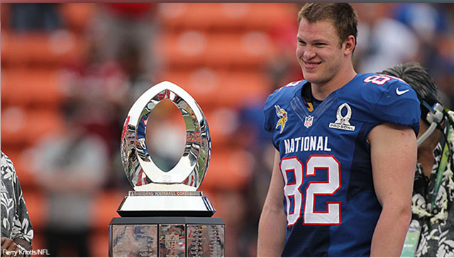 NFL 2013 Pro Bowl - Kyle Rudolph made a name for himself as MVP - The Boys Are Back blog