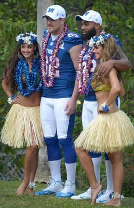 NFL Pro Bowl - Dallas Cowboys tight end Jason Witten and linebacker Anthony Spencer and hula girls - The Boys Are Back blog