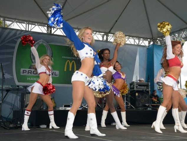 NFL Pro Bowl - Whitney Isleib of the Dallas Cowboys Cheerleaders performs at the 2013 Pro Bowl tailgate party in Honolulu, Hi - The Boys Are Back blog