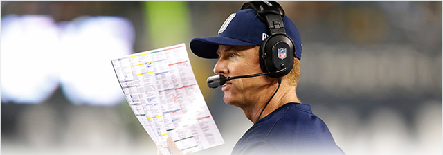 Jason Garrett - Will decide who calls offensive plays for the Dallas Cowboys - The Boys Are Back blog 2013