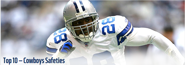 Dallas Cowboys Top 10 Safeties - The Boys Are Back blog 2013