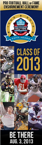 NFL 2013 Pro Football Hall of Fame ceremony - The Boys Are Back blog