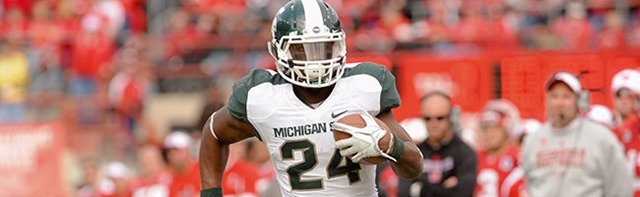 2013 NFL DRAFT PRIMER - Big, bruiser running back from Michigan State visits Dallas Cowboys - LeVeon Bell - The Boys Are Back blog 2013