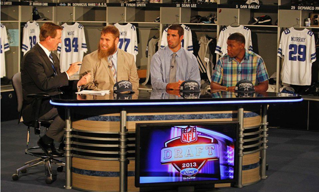 Dallas Cowboys' top three 2013 Draft picks inside Valley Ranch interviewed with Bill Jones - The Boys Are Back blog