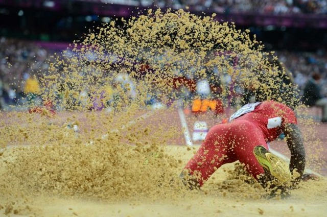 Marquise Goodwin competes during the men's long jump - London 2012 Olympic Games - The Boys Are Back blog 2012
