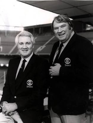 Pat Summerall (left) and John Madden during their first season broadcasting together in 1981