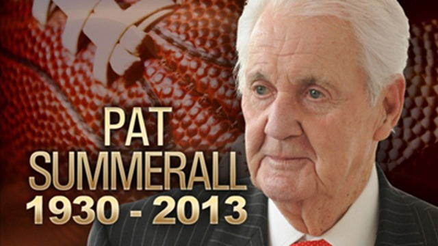 Pat Summerall, the football player turned legendary play-by-play announcer - The Boys Are Back blog 2013