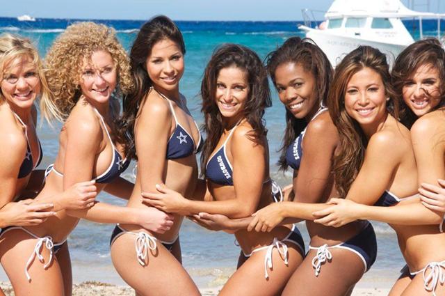Dallas Cowboys Cheerleaders Calendar Shoot - Team Scuba 1 - The Boys Are Back blog 2013