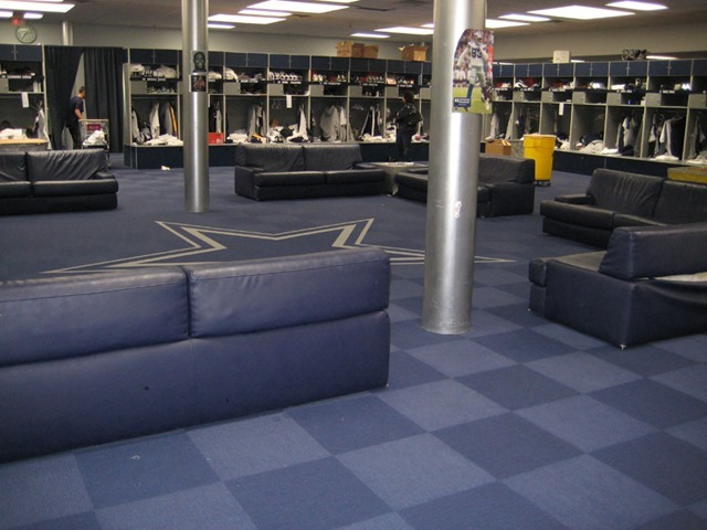 dallas cowboys valley ranch locker area - the boys are back blog