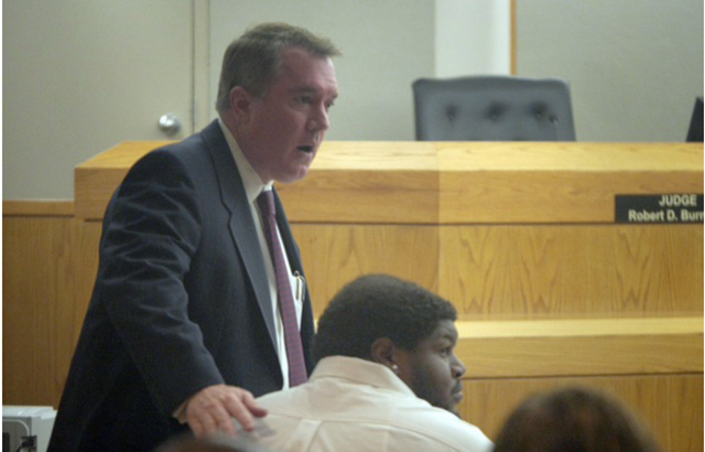 Josh Brent with his attorney at a May 24, 2013 hearing - Ron Baselice DMN Staff Photographer - The Boys Are Back blog