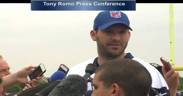 Tony Romo press conference - Dallas Cowboys OTA 2013 - The Boys Are Back blog