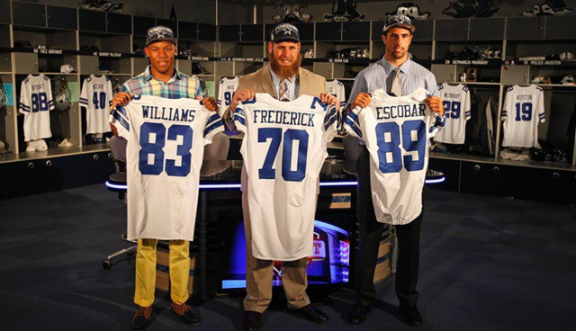 Dallas Cowboys' top three 2013 Draft picks show new Dallas Cowboy jersey - The Boys Are Back blog