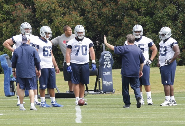 FRONT AND CENTER - Dallas Cowboys #70 impressed that Travis Frederick doesn't have to be shown twice