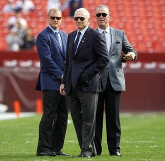 Happy Fathers Day - Jerry Jones (center) is flanked by his sons, Jerry Jr. (left) and Stephen Jones - The Boys Are Back blog