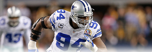 HARNESSING PAIN - DeMarcus Ware found a way after all the injuries to play in all 16 games - The Boys Are Back blog 2013