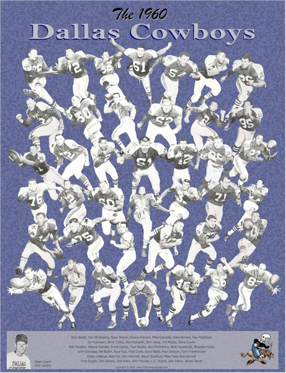 1960 Dallas Cowboys poster - The Boys Are Back blog