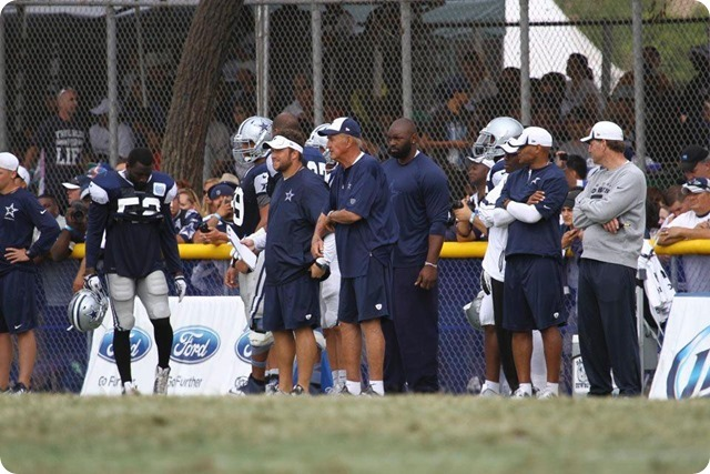 2013 TRAINING CAMP REPORT - Dallas Cowboys get taste of real football with Blue & White scrimmage - Monte Kiffin