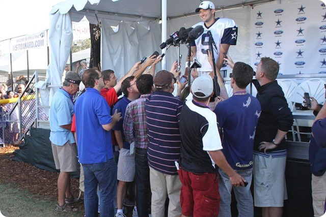 2013 TRAINING CAMP REPORT - Dallas Cowboys QB Tony Romo interview - The Boys Are Back blog