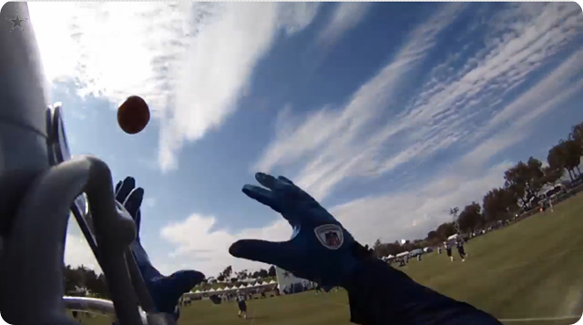 Dallas Cowboys Helmet Cam - Brandon Carr training camp practice - The Boys Are Back blog 2013