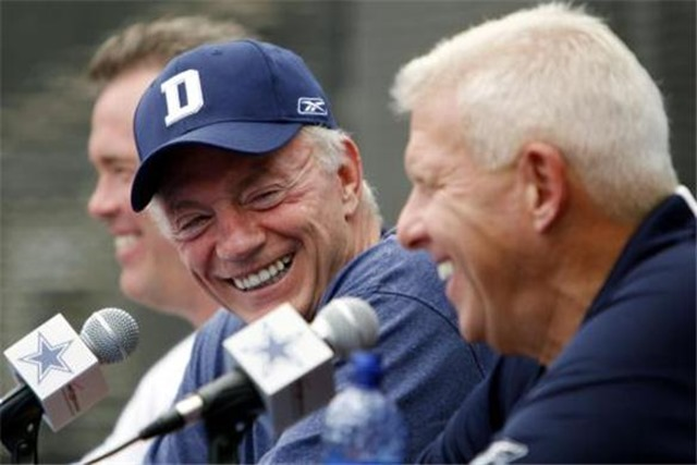 dallas cowboys owner jerry jones, stephen jones, and bill parcells - the boys are back blog