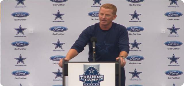 Jason Garrett press conference - 2013-2014 Dallas Cowboys training camp update - Blue White scrimmage - The Boys Are Back blog