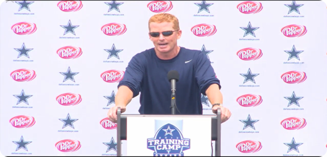 Jason Garrett press conference - 2013-2014 Dallas Cowboys training camp update - Day 4 - The Boys Are Back blog
