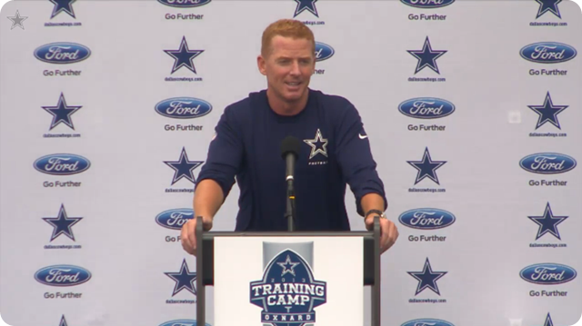 Jason Garrett press conference - 2013-2014 Dallas Cowboys training camp update - Gotcha - The Boys Are Back blog