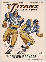 The Titans of New York vs. Denver Broncos 1962 - The Boys Are Back blog