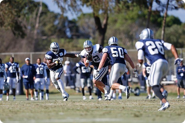 2013-2014 Dallas Cowboys training camp - Sean Lee, Bruce Carter, Jason Witten, Will Allen - The Boys Are Back blog