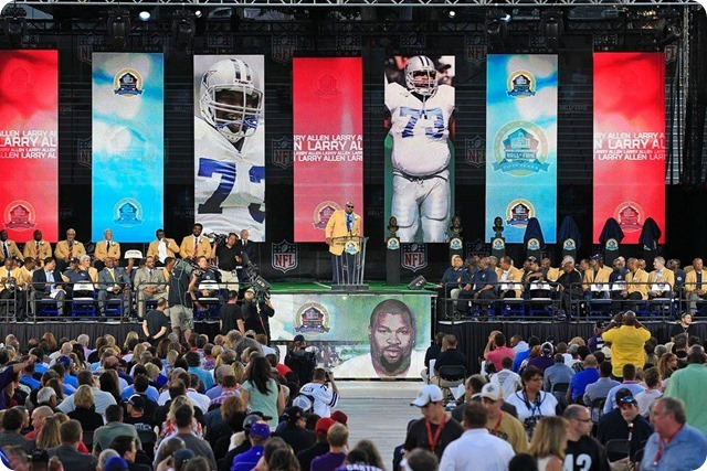 Dallas Cowboys offensive lineman Larry Allen inducted into the Pro Football Hall of Fame speech - The Boys Are Back blog 2013