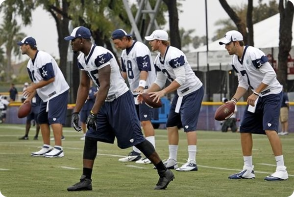 Four Dallas Cowboys QBs in 2013 Training Camp - Tony Romo - Kyle Orton - AlexTanney - Nick Stephens