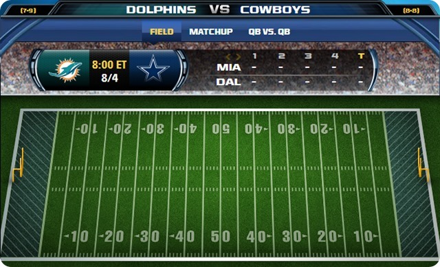 GAMEDAY TRACKERS - Miami Dolphins vs. Dallas Cowboys - Hall of Fame Game Canton Ohio - The Boys Are Back blog
