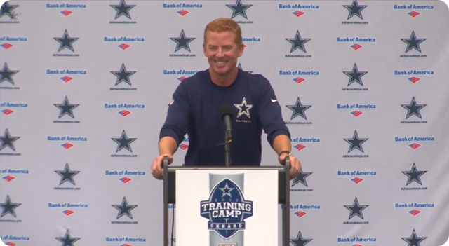 Jason Garrett press conference - 2013-2014 Dallas Cowboys training camp update - Dallas Cowboys bonding at the beach - The Boys Are Back blog