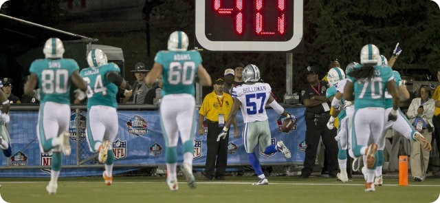 Miami Dolphins vs. Dallas Cowboys, Aug. 4, 2013 - DeVonte Holloman