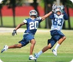 RULED AND SCHOOLED - Dallas Cowboys rookie corner B.W. Webb gets counseling from Tony Romo - The Boys Are Back blog 2013